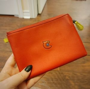 Coach 31 Red Leather Pouch
